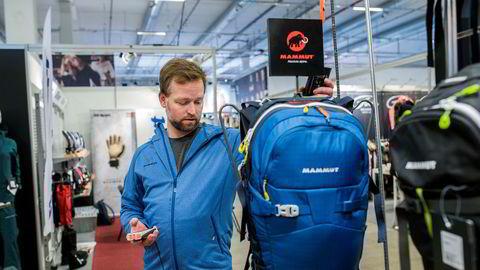 Øystein Halvorsen Markeds og kategorisjef Mammut Ajungilak, som håndterer det skandinaviske markedet for utstyrsprodusenten, på Norspomessen.