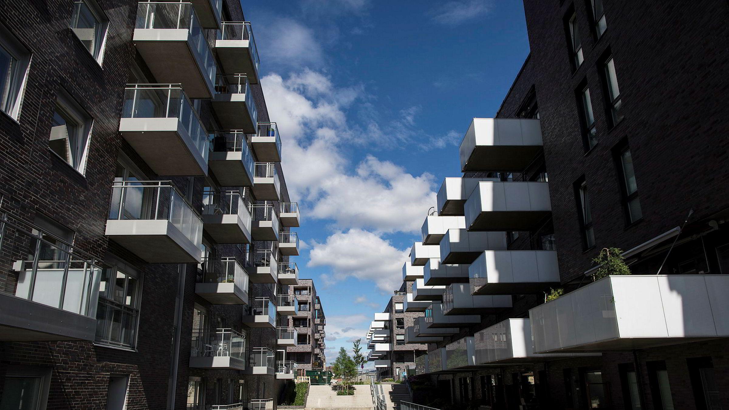 Boligprisene har begynt å falle etter lang tid med kraftig oppgang. Illustrasjonsbilde fra Sørenga i Oslo.