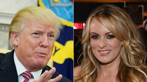Donald Trump avviser både å ha hatt et forhold og ha betalt hysjpenger til Stormy Daniels.