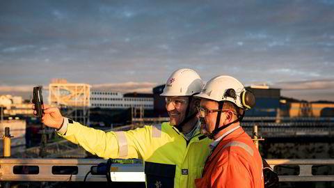 Kjetel Digre, sjef for Johan Sverdrup utbyggingen i Statoil, har fått ned byggekostnadene for Sverdrup-utbyggingen med nye fem milliarder kroner. Her fra boreplattformen som bygges i Haugesund