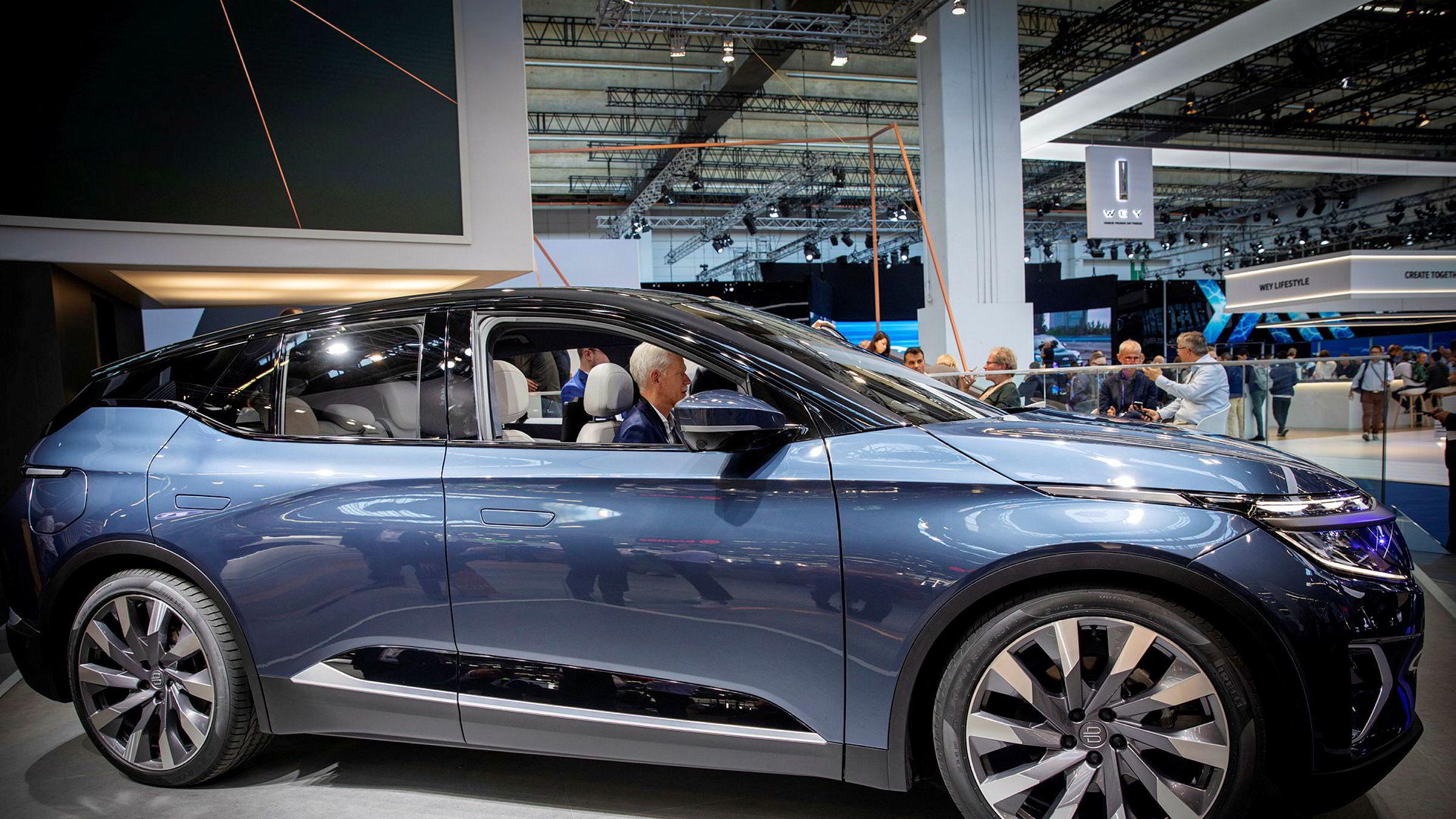 Byton M-Byte ble vist frem på bilmessen i Frankfurt høsten 2019.