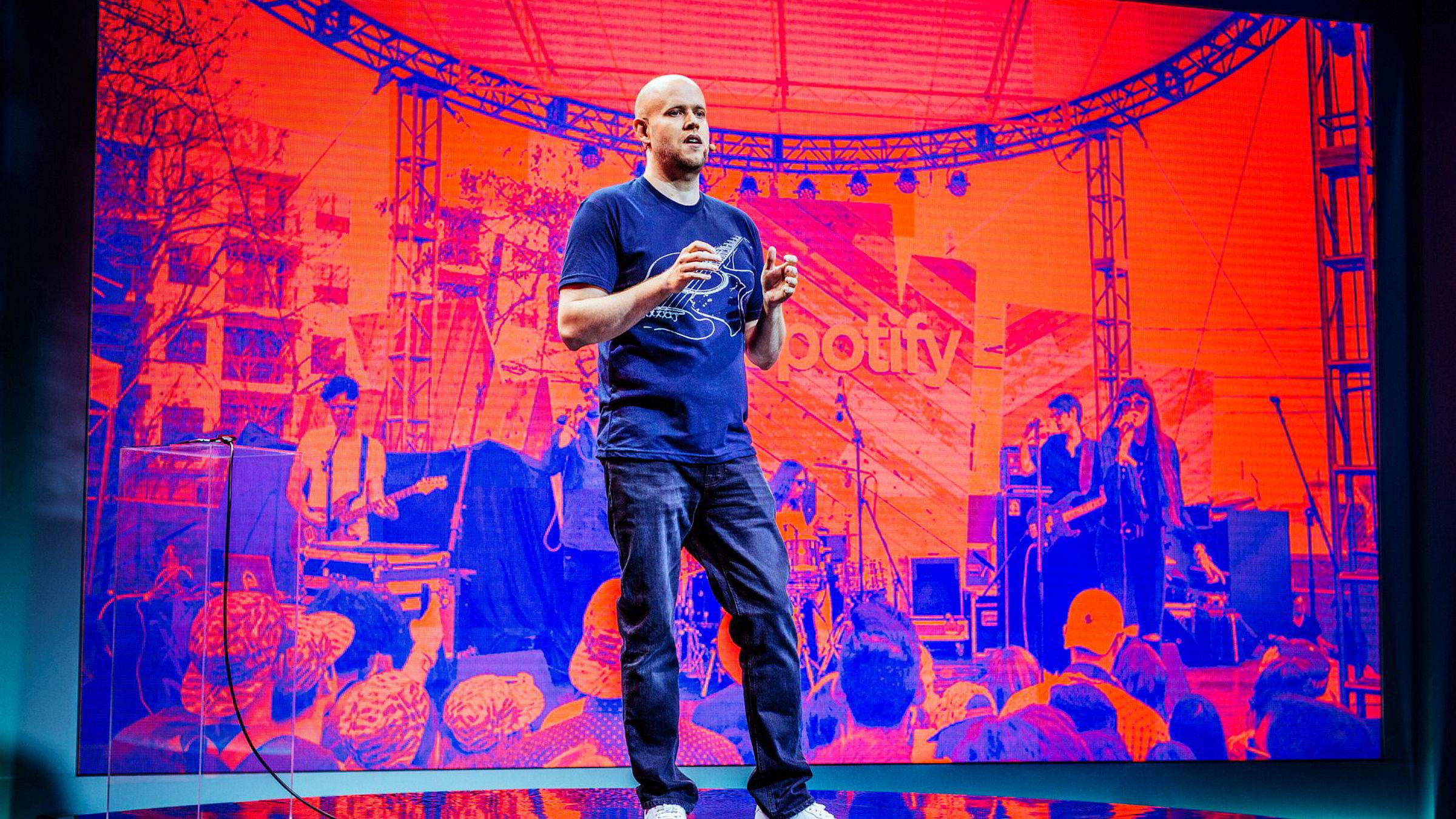 Daniel Ek, konsernsjef og grunnlegger av Spotify, tar Spotify på børs.