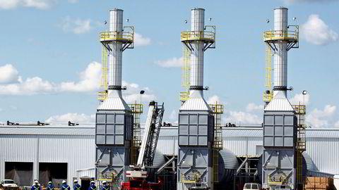 Equinors oljesandprosjekt langs elven Athabasca i Canada. Bilde fra 2009.