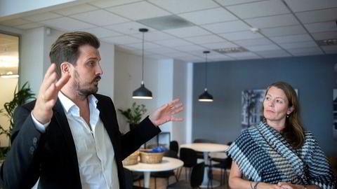 Kjell Are Furnes, daglig leder i helsetech-selskapet Ably og Kathrine Myhre, daglig leder i forskningsklyngen Norway Health Tech er svært bekymret over innstramningen i støtteordningen for innovasjon i næringslivet.