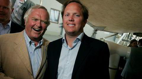Herbjørn Hansson og sønnen Alexander Hansson på Christian Radich i 2007.