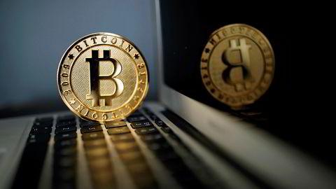 Et illustrasjonsbilde av en bitcoin fra Paris. Nå kan handel i Kina bli stoppet.