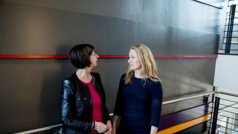 Nav-direktør Sigrun Vågeng (til venstre) har sendt planen for hvordan Nav nå jobber for å rydde opp til arbeidsminister Anniken Hauglie (til høyre).