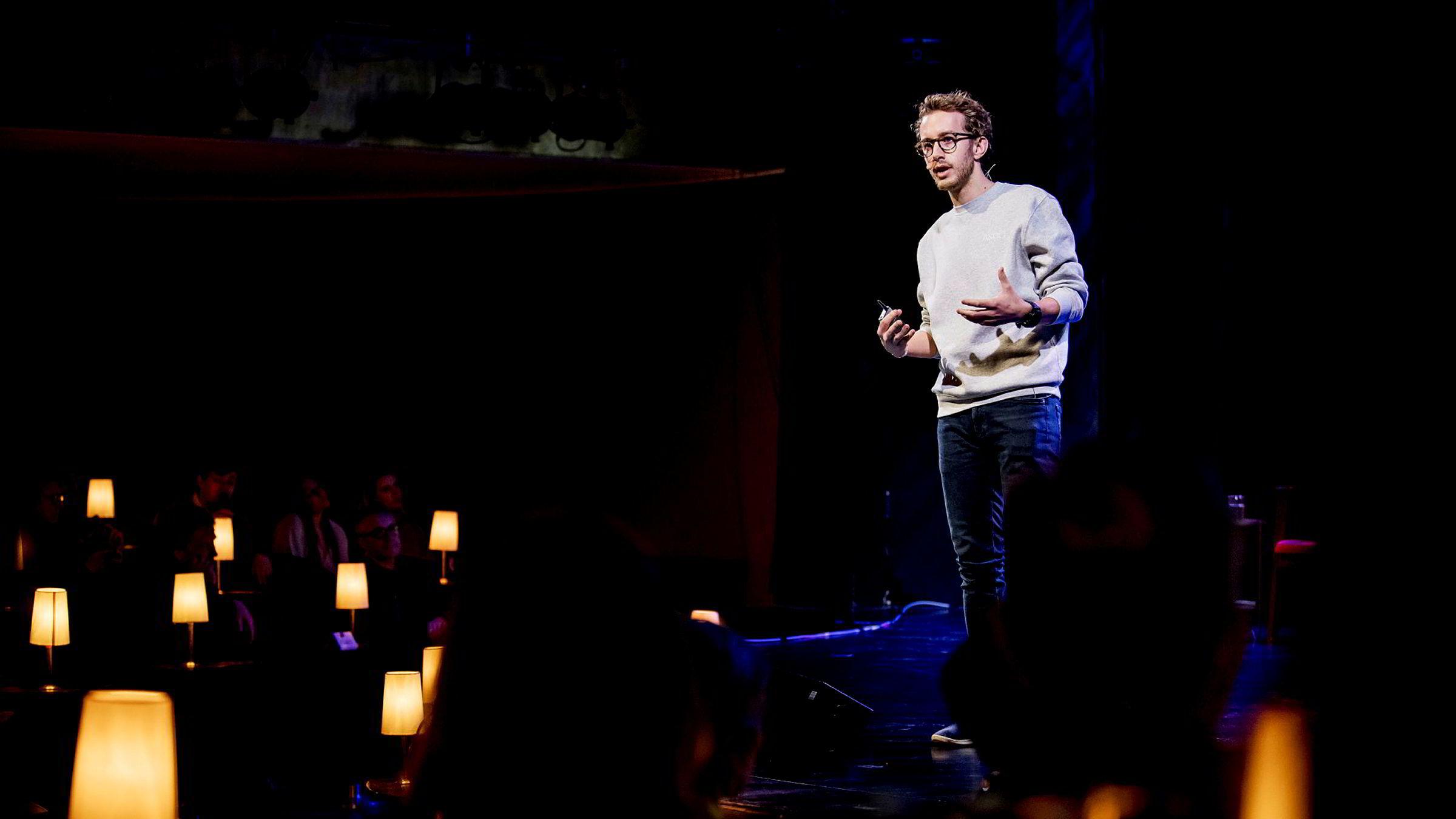 Medgründer og partner i Askeladden & Co, Martin Schütt, deltok torsdag på DNs Gaselleshow 2019 på Chat Noir i Oslo.
