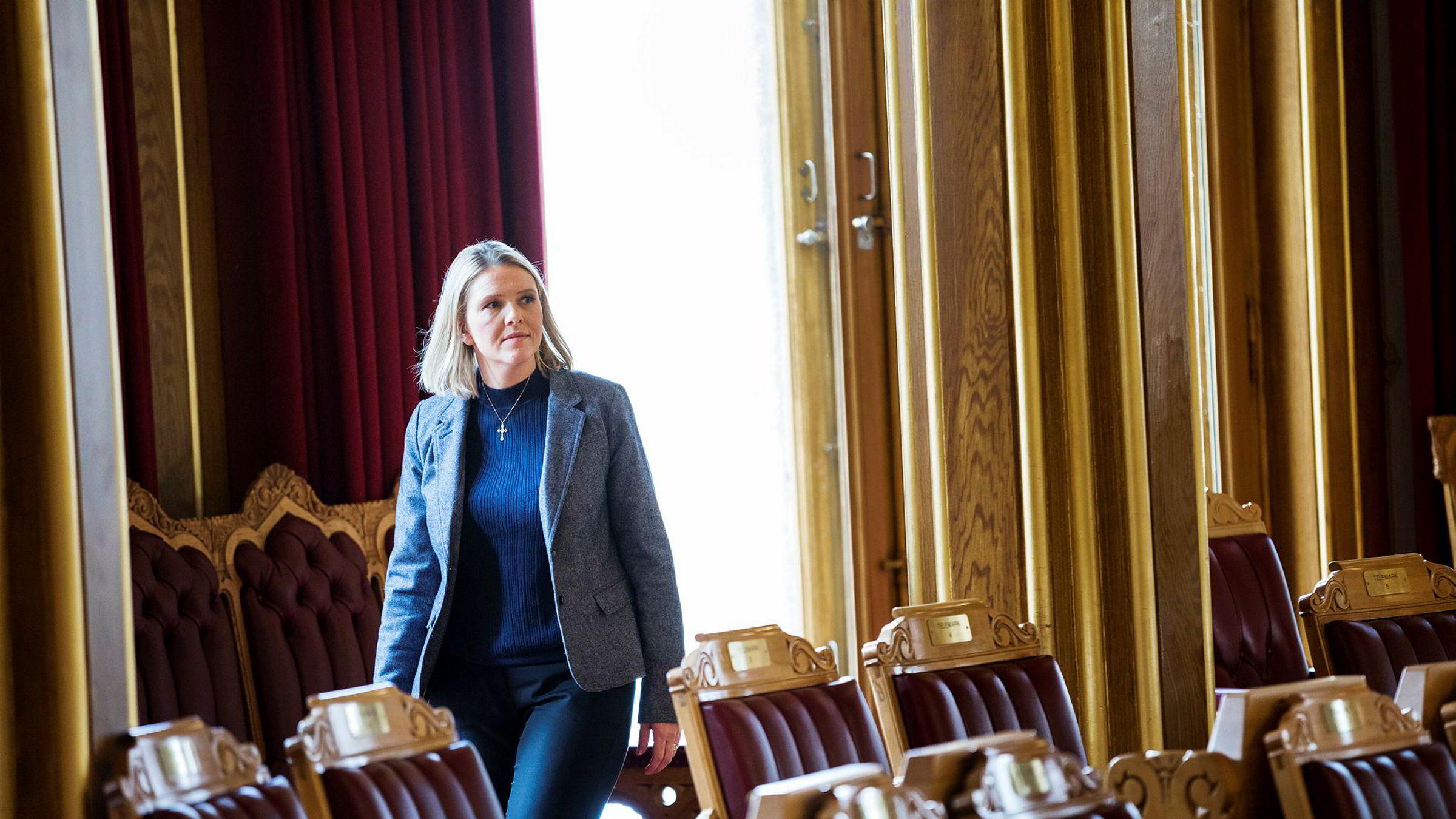 Justis- og innvandringsminister Sylvi Listhaug testet torsdag hvordan det er å si «unnskyld» i Stortinget.