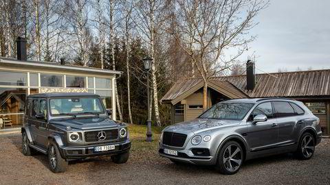 Mercedes-Benz Geländewagen (til venstre) og Bentley Bentayga er de hotteste suvene for dem med høyt bilbudsjett.