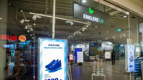 Dørene til Enklere Liv åpnet aldri igjen etter koronakrisen. Her fra butikken på Sandvika Storsenter.