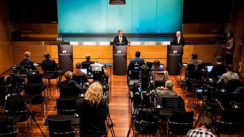 Sentralbanksjef Øystein Olsen forteller om rentekuttet på grunn av koronautbruddet.