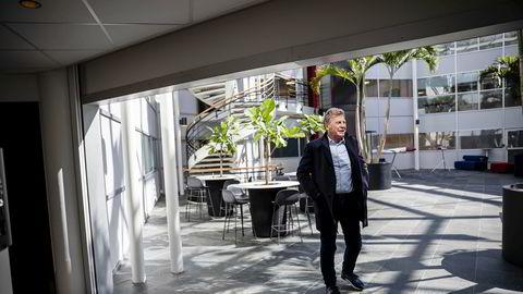 Bjørn H. Kise på Norwegians hovedkontor etter en generalforsamling 4. mai i år.