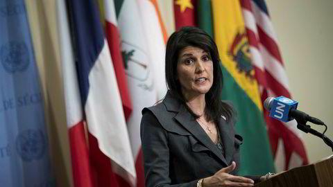 USA ved FN-ambassadør Nikki Haley ba om at Sikkerhetsrådet samles fredag for å siskutere situasjonen i Iran.
