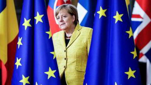 Tysklands forbundskansler ankom Brussel torsdag. Hun blir en av hovedpersonene under EU-toppmøtet.