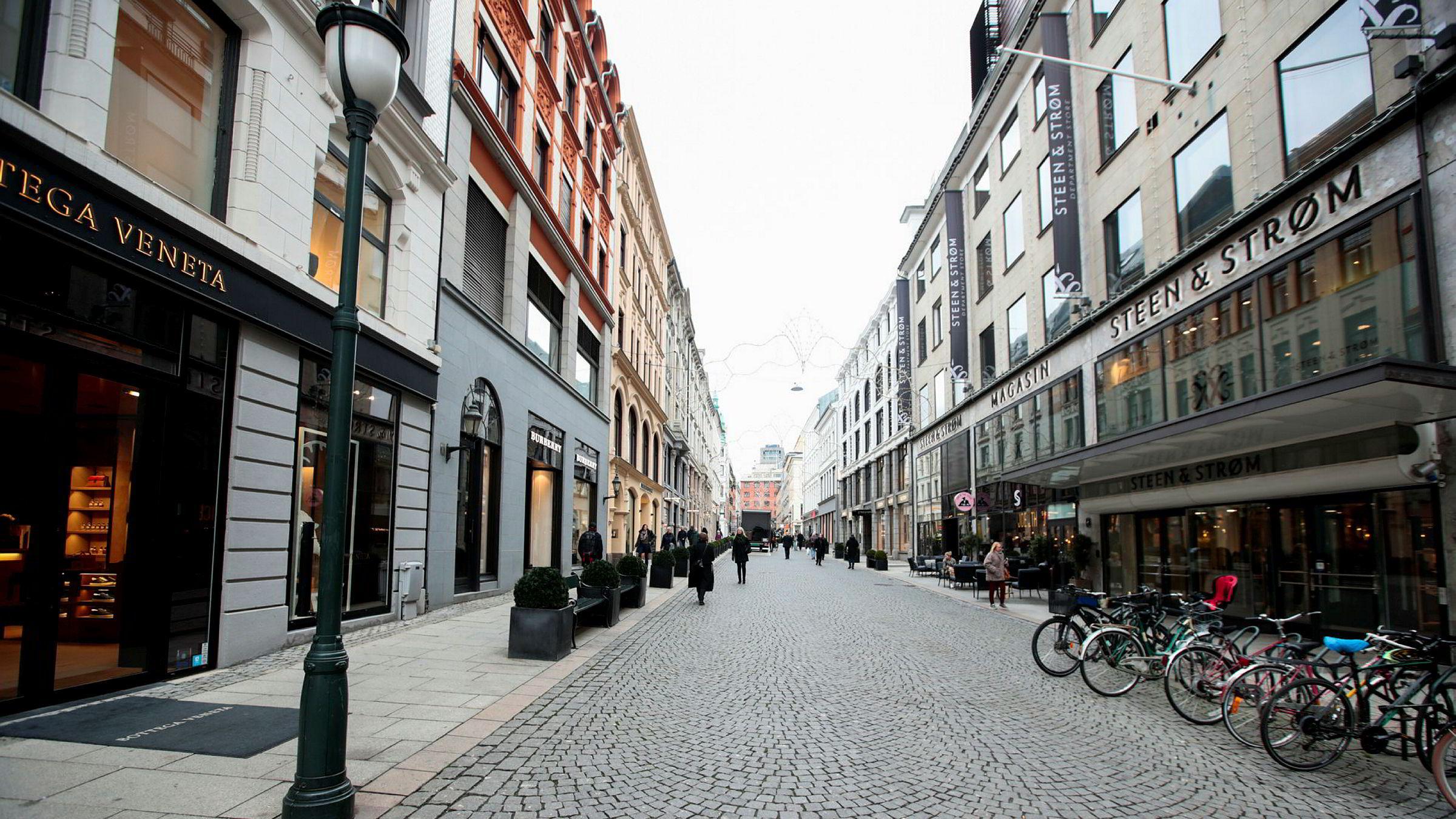 Inntil i år hadde Haust en butikk her i Nedre Slottsgate i Oslo.