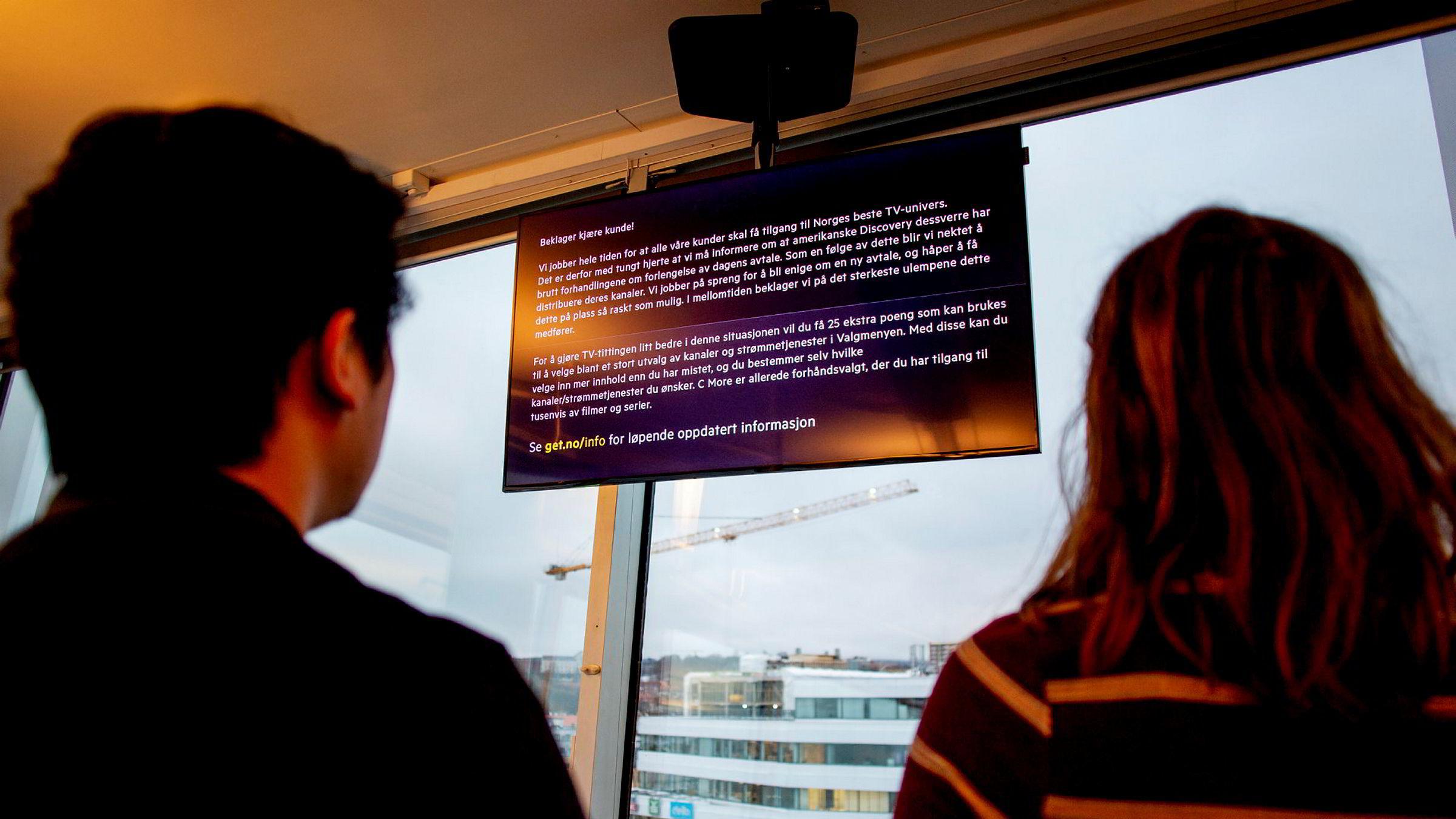 Over én million nordmenn mister tilgangen på tv-kanaler etter at forhandlingene mellom Get og Discovery brøt sammen tirsdag morgen.