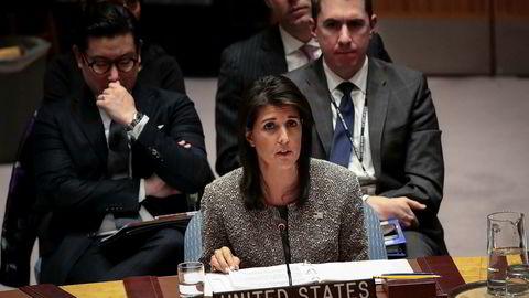 USAs FN-ambassadør Nikki Haley sier en krig mot Nord-Korea er rykket nærmere.