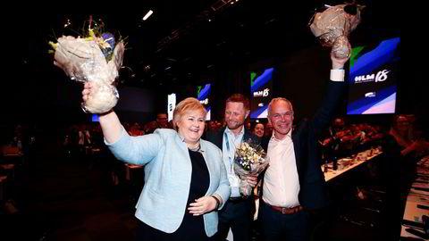 Lørdag ble Solberg gjenvalgt som partileder til stående applaus, og hun er nå Høyres lengstsittende partileder noensinne. Hun har sittet i posisjonen siden 2004.