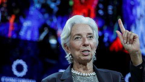 Det internasjonale pengefondet IMF har lagt frem sin «Global Financial Stablility Report der det advarer om gjeldsøkningen hos husholdningene i verden. På bildet IMF-sjef Christine Lagarde.