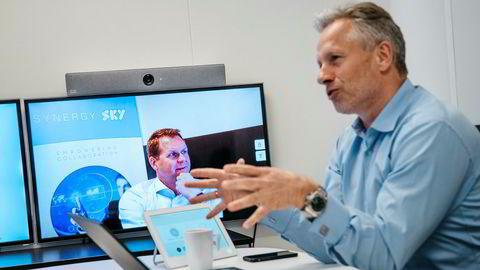 Markedsdirektør Vemun Waksvik styrer kontoret i Oslo, mens administrerende direktør Ståle Reitan bor i New York og møter DN via videokonferanse. Begge har jobbet i Tandberg.