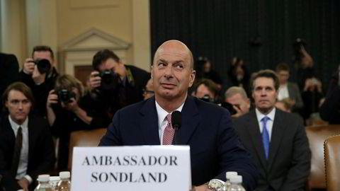 Gordon Sondland letter på sløret.