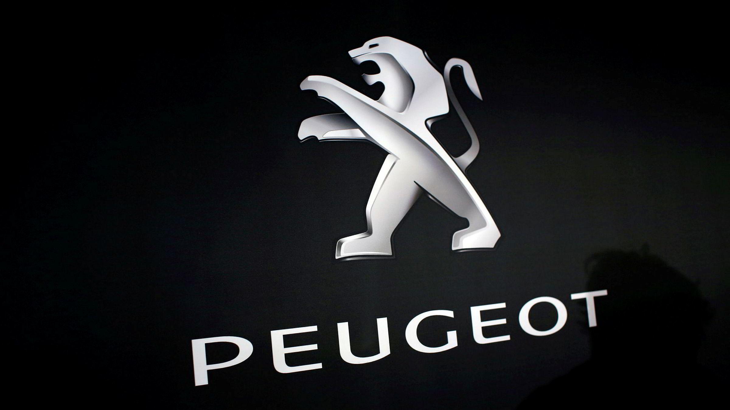 Illustrasjonsfoto av Peugeots logo.