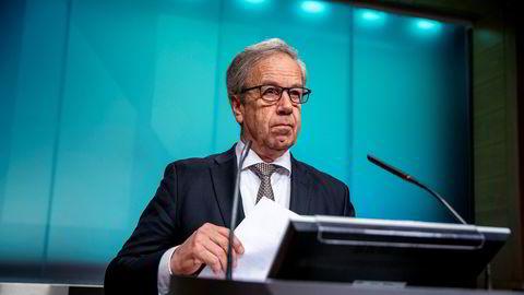 Sentralbanksjef Øystein Olsen sa i mai at renten kan bli liggende på null til 2023.