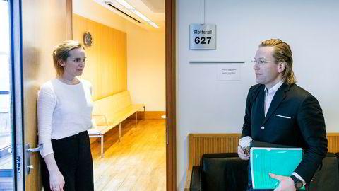 Eiendomsinvestor Thomas Løvsland møtte bostyrer Trude Gran Johansen i døren til rettssalen og første skiftesamling for hans Urban Bolig.