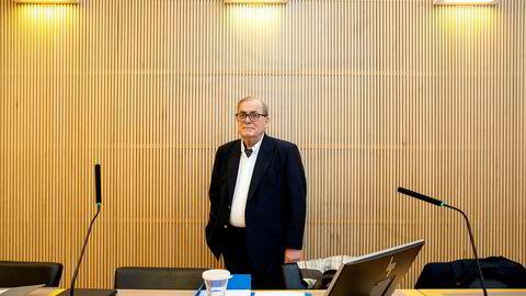 Investor og gründer Tore Hansen-Tangen i retten under behandlingen av konkursbegjæringen til selskapet Viking Heat Engines.