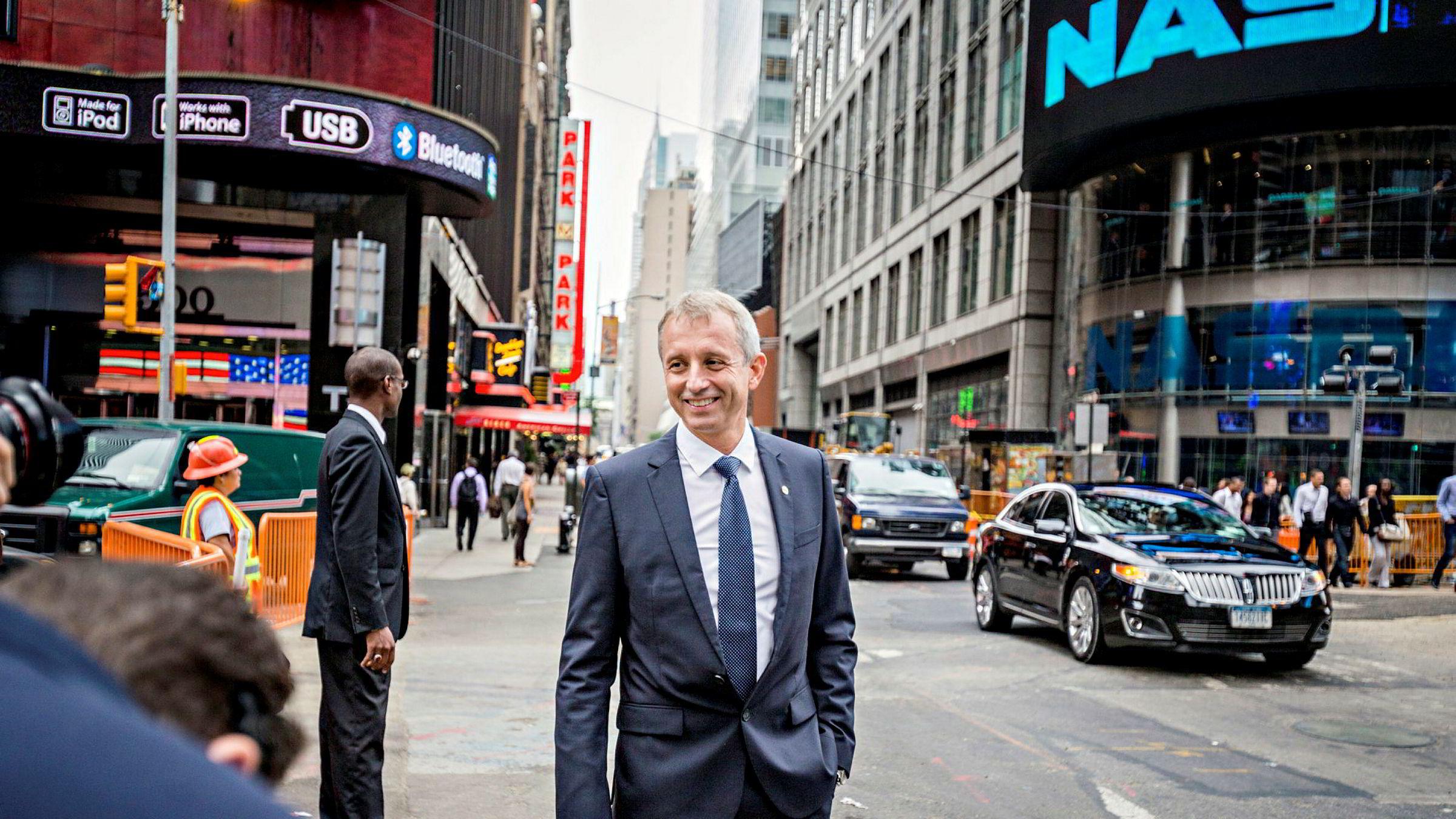 New York, USA, 10.09.2013 daværende konsernsjef Jo Lunder, sjef i telekomselskapet Vimpelcom.