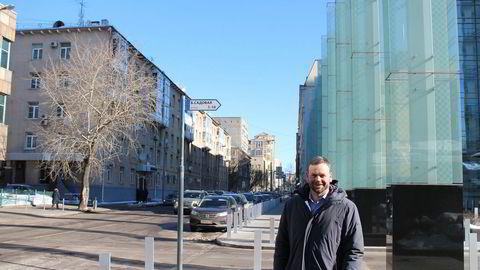Kværners Russland-sjef Axel Mørkved Thorsdal ved selskapets kontor i Moskva.