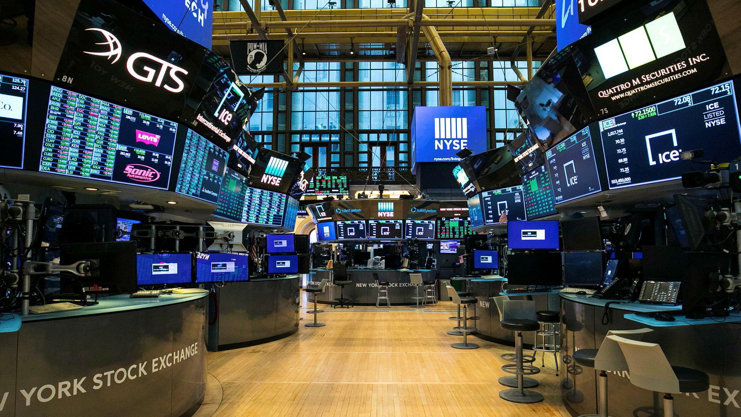 Koronakrisen gjør at det for første gang i moderne historie ikke er fysisk handel på gulvet på New York Stock Exchange. Men børsen kan ligge an til oppgang for tredje dag på rad.