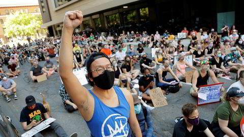 Den siste uken har demonstrasjonene i Minneapolis og St. Paul (bildet) for det meste gått rolig for seg.