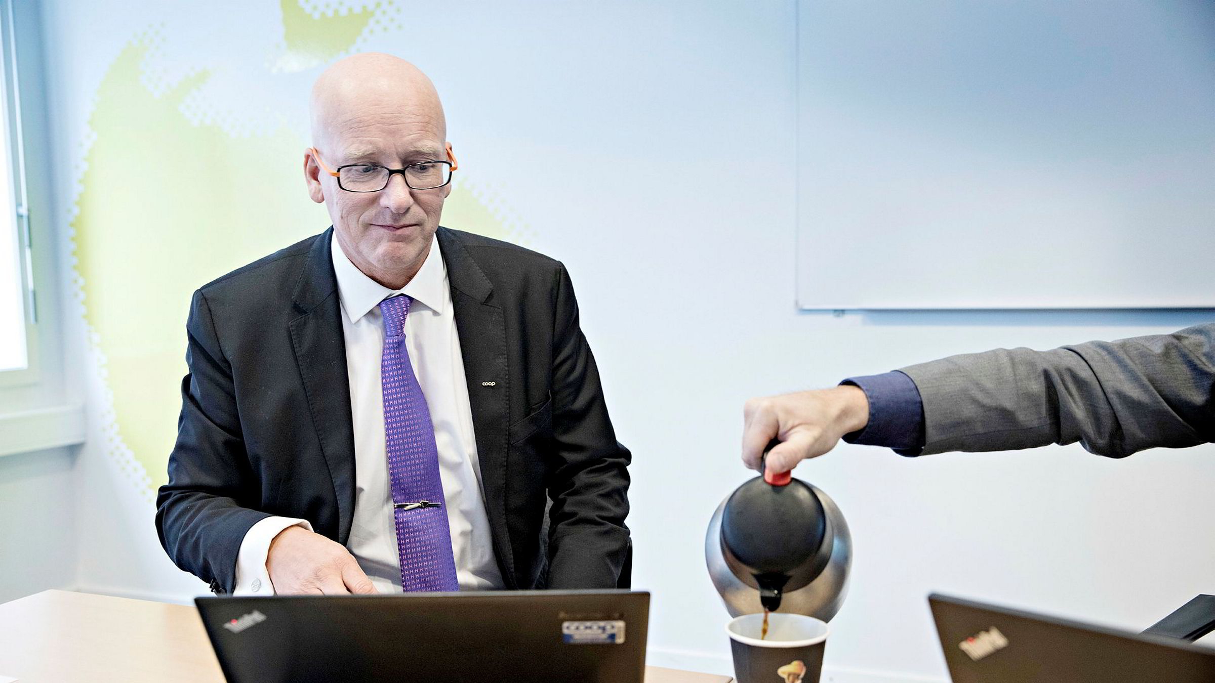 – Man får fort et sammensurium av jobb og privat, og det prøver jeg å være ryddig på, sier Coops konsernsjef Geir Inge Stokke.