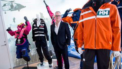 Helly Hansen-sjef Paul Stoneham avbildet i 2016. Det norske klesmerket er heleid av et kanadisk konsern og vokser kraftig internasjonalt.