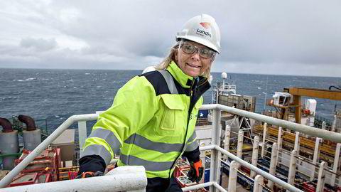 – Forslaget om halvering av friinntekt er litt overraskende, sier sjef i Lundin Norway, Kristin Færøvik. Her på boreriggen Leiv Eriksson i Barentshavet.