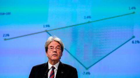 EUs finanskommissær Paolo Gentiloni. Foto: AP / NTB scanpix