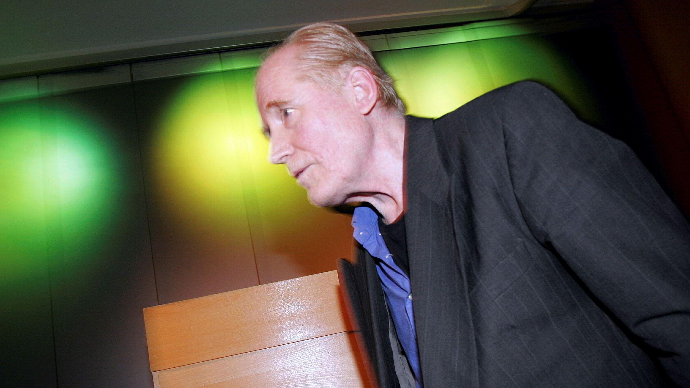 Stein Mehren er død, 82 år gammel. I 2005 mottok han Gyldendalprisen for 2004. Foto: Jarl Fr. Erichsen / Scanpix.