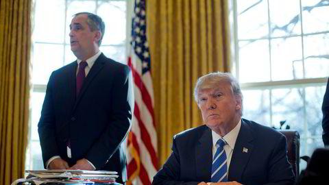 Toppsjef Brian Krzanich i Intel ble mandag kveld den tredje toppsjefen som i løpet av kort tid har trukket seg fra president Donald Trumps ekspertråd for amerikansk industri. Bildet er fra februar i år.