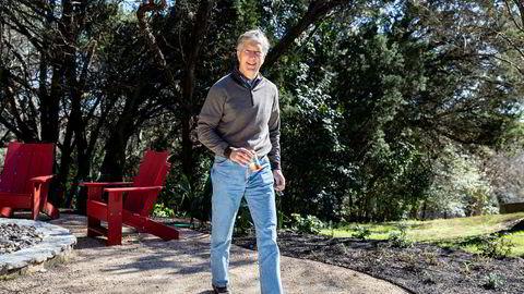 Mens Equinor har tapt milliarder, har Bud Brigham etablerte nye selskaper og tjent milliardbeløp. Her er han utenfor kontorene i Austin, Texas.