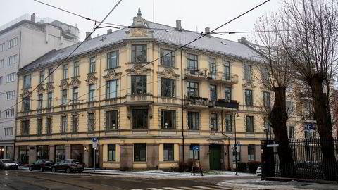 Leiligheten ligger i denne bygården på Skillebekk i Oslo.