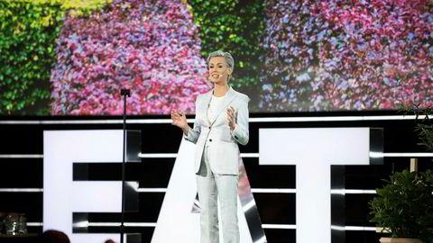 – La oss ikke nøye oss med det som er mindre ille eller litt bedre enn i går, sa Gunhild Stordalen da hun åpnet årets Eat Forum i Globen i Stockholm. Foto: