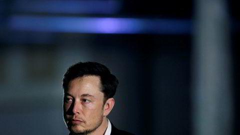 Tesla-sjef Elon Musk.