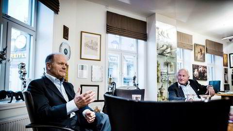 Styreleder Christian Ringnes (til høyre) og administrerende direktør Anders Nissen har sett verdien av hotelleiendomsselskapet Pandox rase med 30 milliarder kroner på under en måned.