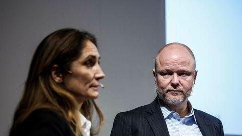 Daglig leder Tine Wollebekk og finansdirektør Pål Svenkerud i Bank Norwegian.