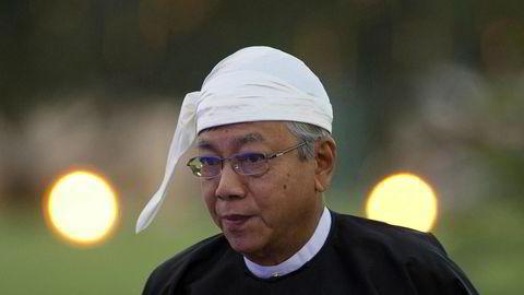 Htin Kyaw har trukket seg som president i Myanmar.