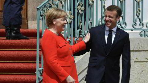 Tysklands forbundskansler Angela Merkel og Frankrikes president Emmanuel Macron forsøker å finne veien fremover for EU.