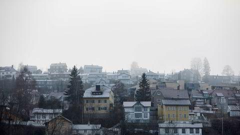 Leieprisene steg mest i Oslo i 2019. Avbildet er eneboliger i Ekebergåsen i Oslo.