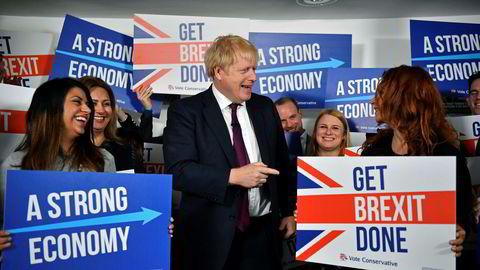 Statsminister Boris Johnson ser ut til å gjøre et godt valg torsdag.